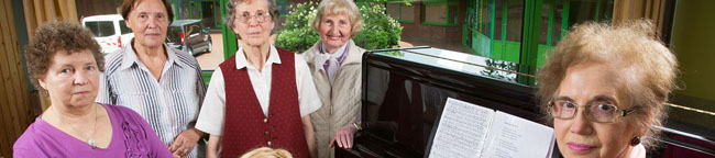 Der Senioren-Singkreis:  Ein kleiner aber feiner Chor – Einige Mitglieder kennen sich seit mehr als 20 Jahren
