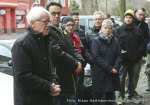 Stolpersteine, Erinnerung an die Ermordeten im Nationalsozialismus wurden in der Nordstadt verlegt. BvB-Präsident Dr. Reinhard Rauball