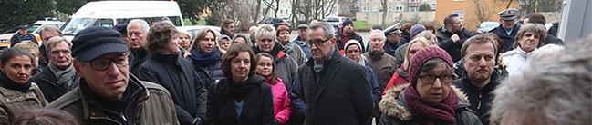 Großes Anwohnerinteresse bei Ortstermin: Die ersten Flüchtlinge kommen am Donnerstag in Eving an