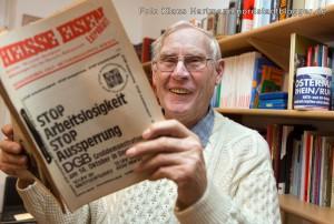Willi Hoffmeister, ehemaliger Betriebsrat Hoesch und Urgestein des Ostermarsch Ruhr