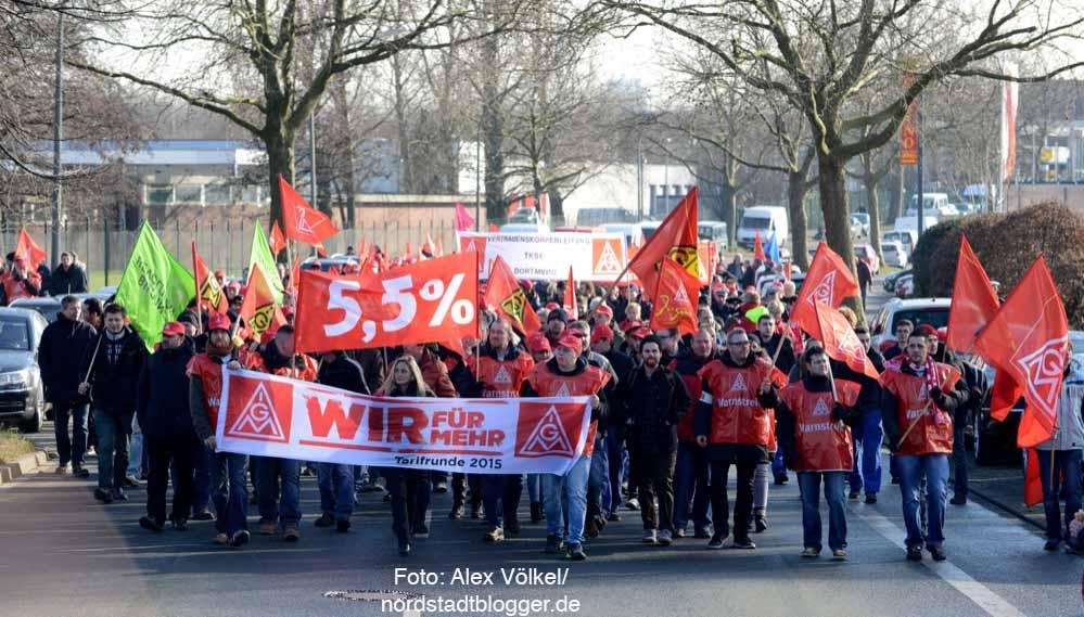Warnstreik der IG Metall in Dortmund.