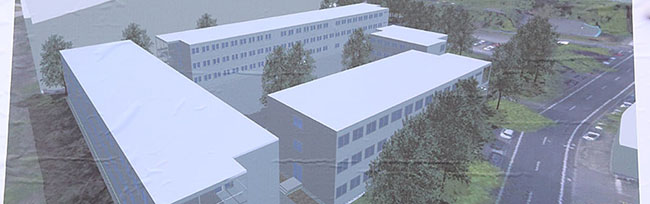 Ausweichquartier für das Fritz-Henßler-Berufskolleg: Über 500 Container werden an der Weißenburger Straße aufgestellt