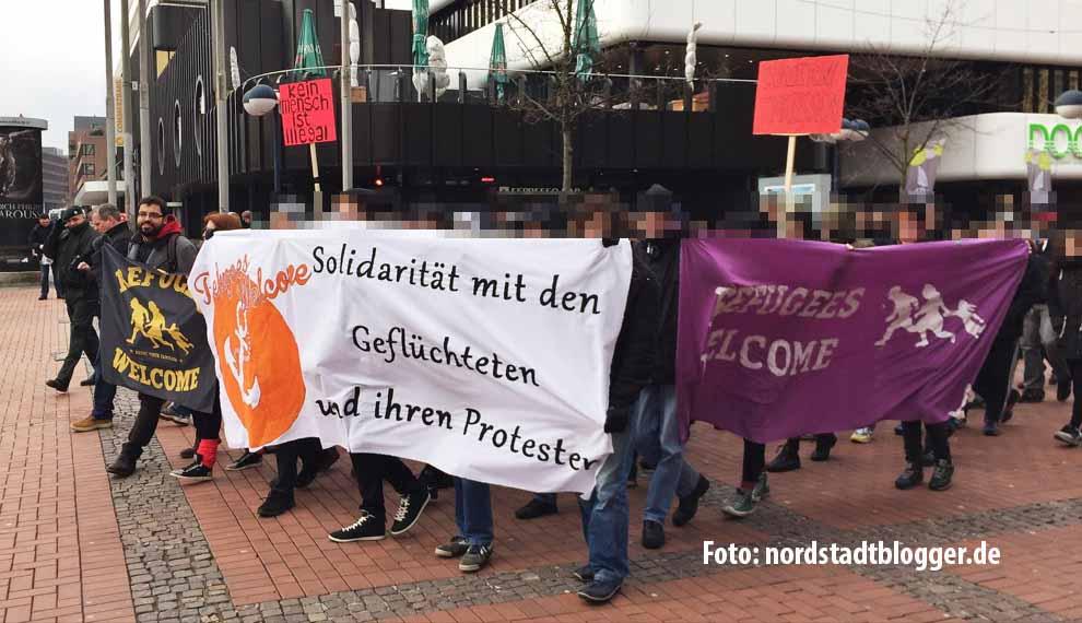 Solidarität mit Flüchtlingen standen im Mittelpunkt der Refugees Welcome Demo in Dortmund.
