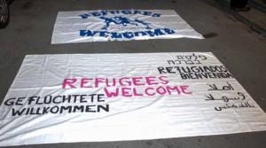 Die Blockierer forderten ein Bleiberecht für Flüchtlinge.