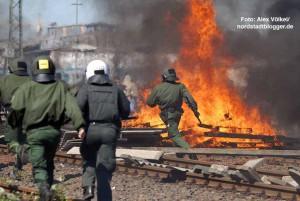 Gewaltsame versuchten Autonome Antifa den Neonaziaufmarsch am 1. Mai 2007 zu verhindern.