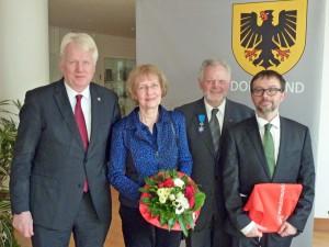 Ullrich Sierau, Uta und Wolfgang Asshoff und Emmanuel Suard.