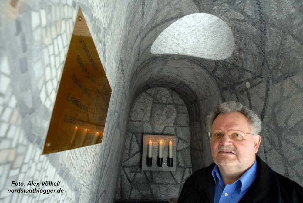 Wolfgang Asshoff in der Krypta in der Bittermark. Archivbild: Alex Völkel
