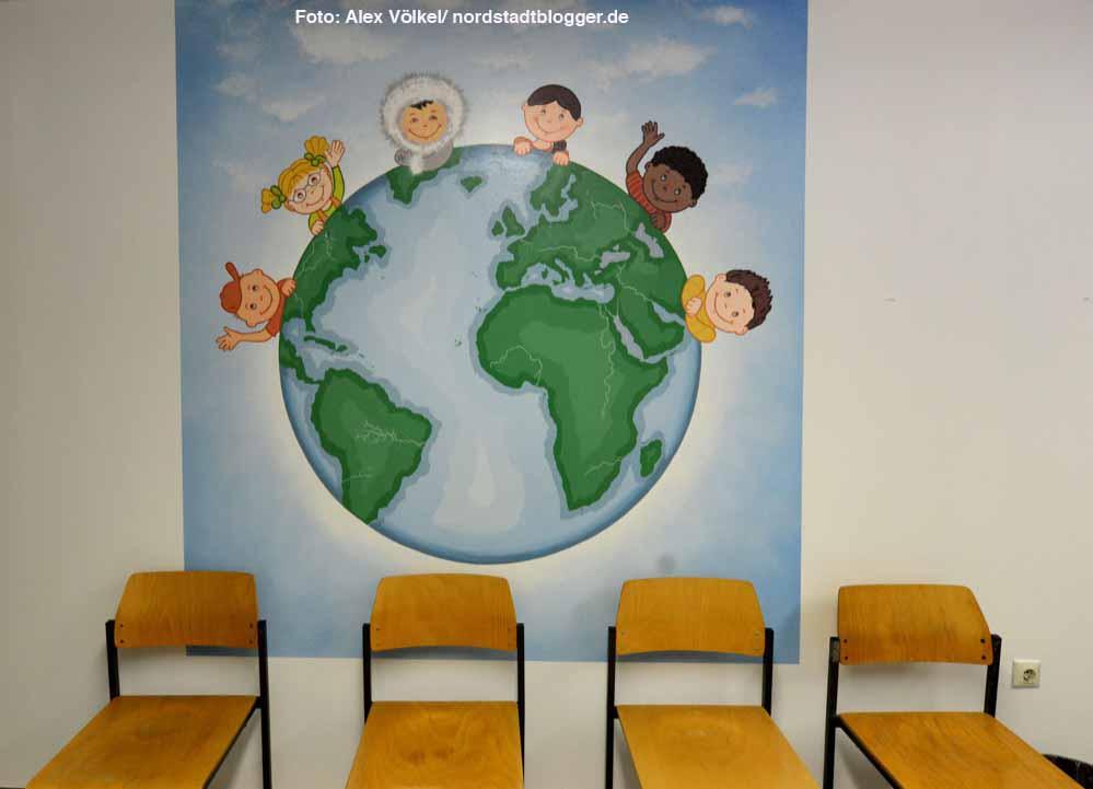 Der Wartebereich für die Hilfesuchenden im Gesundheitsamt.