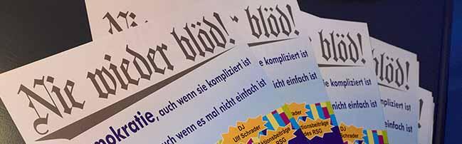 "Tage demokratischen Zorns: Bürgerforum ""Nord trifft Süd"" zum Thema ""Kampf gegen Rechts in den Stadtteilen"""