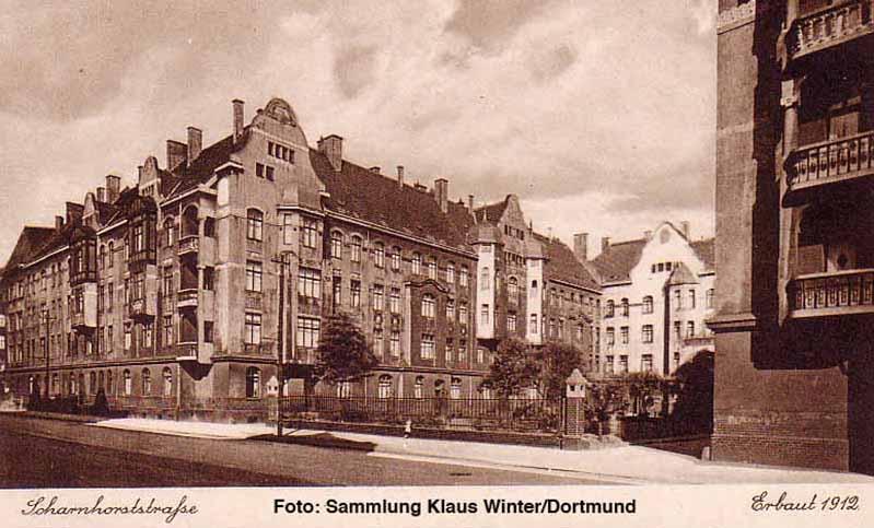 Der Hausbestand von Spar und Bau im Bereich der Scharnhorststraße wurde 1912 erbaut. Archiv: Klaus Winter