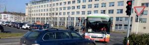 Im Bereich des Busbahnhofes kommt es immer wieder zu Problemen durch Begegnungsverkehr.