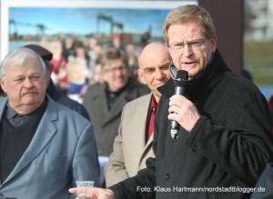 Finnisage der Ausstellung, Wir: Echt Nordstadt! am Phoenixsee in Dortmund-Hörde. Planungsdezernent Ludger Wilde