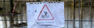Steigender Grundwasserspiegel sorgt in Brügmanns Hölzchen im Hoeschpark für Überflutung