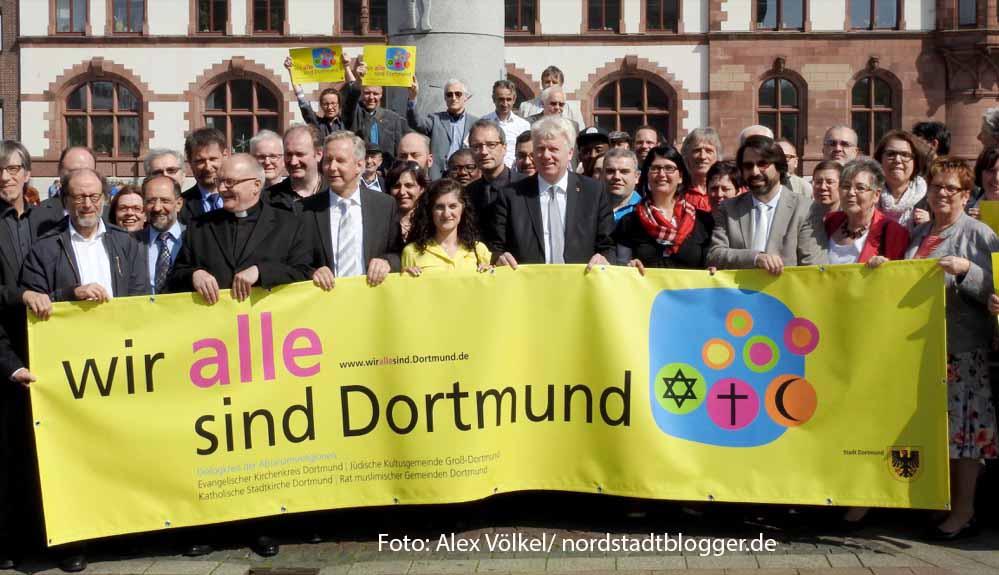 """Die Stadt Dortmund und die großen Religionsgemeinschaften haben gemeinsam die Kampagne """"Wir ALLE sind Dortmund"""" gestartet."""