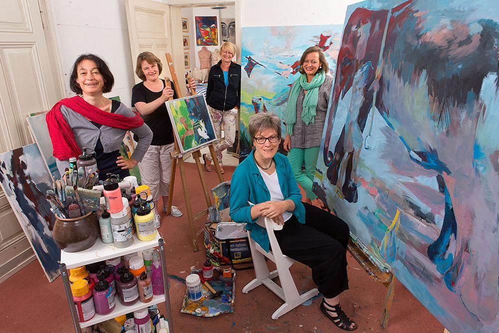 Öffnen ihre Ateliers :Die Künstlerinnen aus der Westerbleichstraße