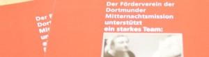 Flyer des Fördervereins Dortmunder Mitternachtsmission