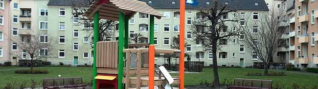 Neuer Kinderspielplatz in der Uhlandstraße