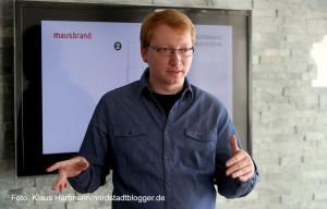 IT-Unternehmen Mausbrand siedelt sich an der Speicherstraße an. Roland Brose, einer der Geschäftsführer der Gesellschaft
