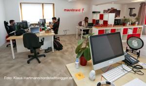 IT-Unternehmen Mausbrand siedelt sich an der Speicherstraße an. In den Räumen von Mausbrand wird Software entwickelt