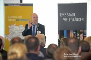 NRW-Staatssekretär Michael von der Mühlen lobte die hervorragende Stadtplanung in Dortmund.