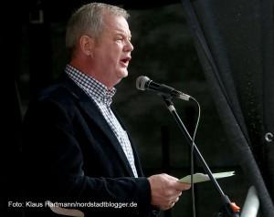 Fest zum Tag der Befreiung vor 70 Jahren auf der Münsterstraße. Manfred Sträter, NGG