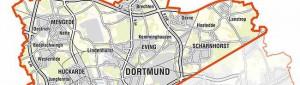 """Das Programmgebiet von """"Nordwärts"""" wird sieben Stadtbezirken von Dortmund ganz oder teilweise enthalten."""