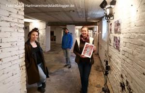 Fotoausstellung Nordstadtblues im Export 33. V. l.: Nini Simi Madan, Alexander Hügel und Anna-Lisa Konrad