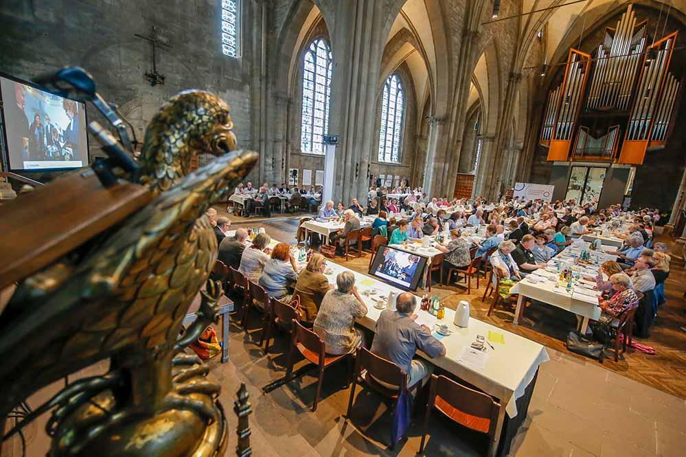 Die Kreissynode der evangelischen Kirche tagte in der Reinoldikirche. Foto: Stephan Schuetze/VKK