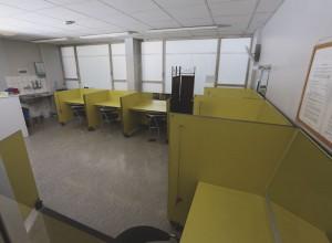 Drogenkonsumraum in der Drogenhilfe-Einrichtung Kick der Aidshilfe im Gesundheitsamt. In diesem Raum können sich die Süchtigen unter Aufsicht eine Spritze setzen