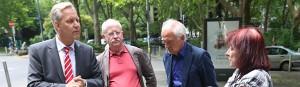 Rundgang mit Polizeipräsident Lange durch die Nordstadt