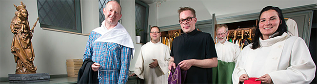 Die Katholiken feiern an Fronleichnam: Eine Prozession aller sechs Gemeinden und Missionen durch die Nordstadt