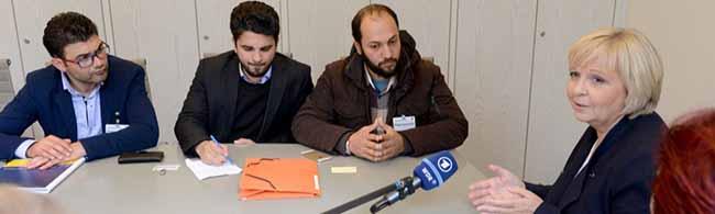 Syrische Flüchtlinge aus dem Dortmunder Protestcamp zu Gast im Landtag – Keine Sonderregelungen denkbar