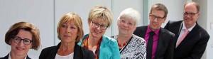 Heike Bettermann (Jobcenter Dortmund), Angelika Weies (HWK), Jutta Reiter (DGB),Regine Kreickmann (Jobcenter Dortmund), Michael Ifland (IHK), Thomas Keyen (Agentur für Arbeit Dortmund).