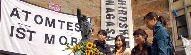 Vor 70 Jahren fielen Atombomben auf Hiroshimaund Nagasaki: Dortmund gedenkt den Opfern am 6. August