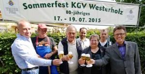 Die Mitglieder und Unterstützer des KGV Westerholz laden zum Festwochenende ein.