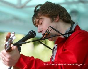 Auftakt Musik.Kultur.Picknick 2015 am Nordmarkt mit Tommy Finke und Pele Caster. Tommy Finke