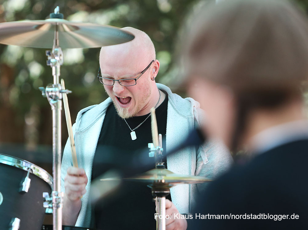 Auftakt Musik.Kultur.Picknick 2015 am Nordmarkt mit Tommy Finke und Pele Caster. Pele Caster