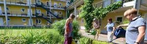 Im Beginenhof in der Dortmunder Nordstadt Leben Frauen zusammen.