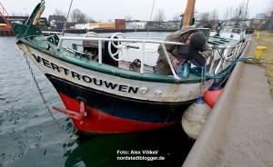 Im Schmiedinghafen, wo auch die Vertorfen der ZWAR-Gruppe und Herr Walter liegen, sollen auch die Flüchtlingsschiffe festmachen.