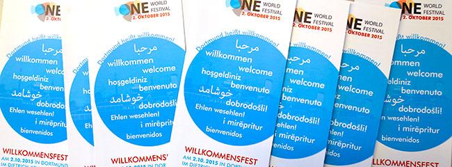 One World Festival im DKH will mit Flüchtlingen, Helfern und allen Dortmundern ein großes Willkommensfest feiern