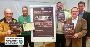 Reihe Heimat Dortmund, Ausgabe Fredenbaum. V.l.: Günter Spranke, Hermann Josef Bausch, Klaus Winter, Adolf Miksch und Stefan Mühlhofer