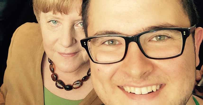 """""""Selfie-Fan"""" Elvedin Goljica hat ein glückliches Händchen: """"Ich war zur richtigen Zeit am richtigen Ort""""."""