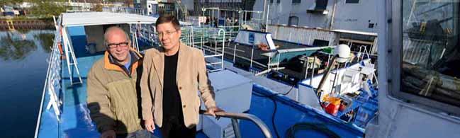Die Flußkreuzfahrtschiffe in Dortmund sind für Flüchtlinge bereit: Sie bieten Privatsphäre – aber keinen Luxus