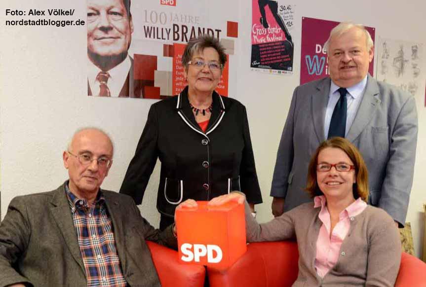 Armin Jahl und Nadja Lüders wollen im Parlament sitzen bleiben, Gerda Kieninger und Guntram wollen gehen.