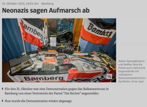 """Die Razzia gegen Mitglieder Partei """"Die Rechte"""" sorgtfür bundesweite Aufmerksamkeit, wie ein Screenshot von Süddeutsche.de belegt."""