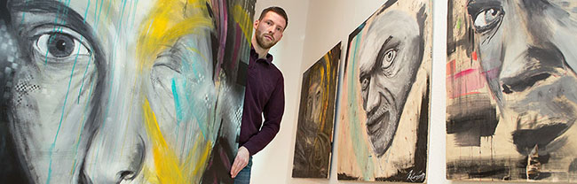 """Kick-Off für einen jungen Künstler in der Nordstadt: Der """"kunstbetrieb"""" zeigt ab Samstag die Ausstellung """"Kirian"""""""