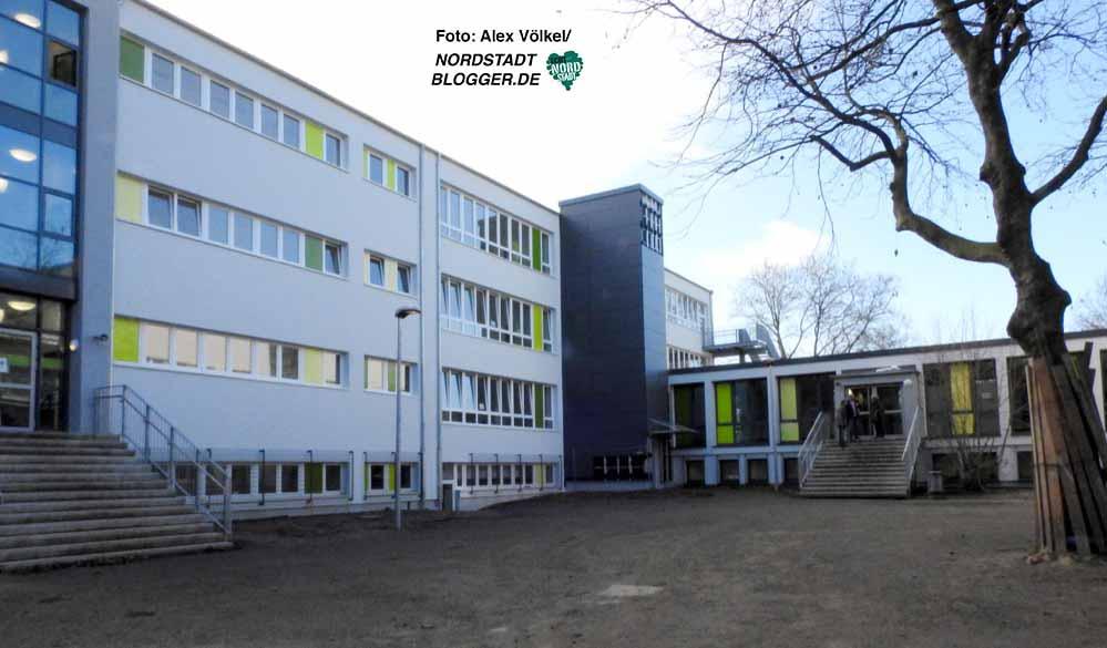 Die Bauarbeiten an der Anne-Frank-Gesamtschule gehen gut voran.