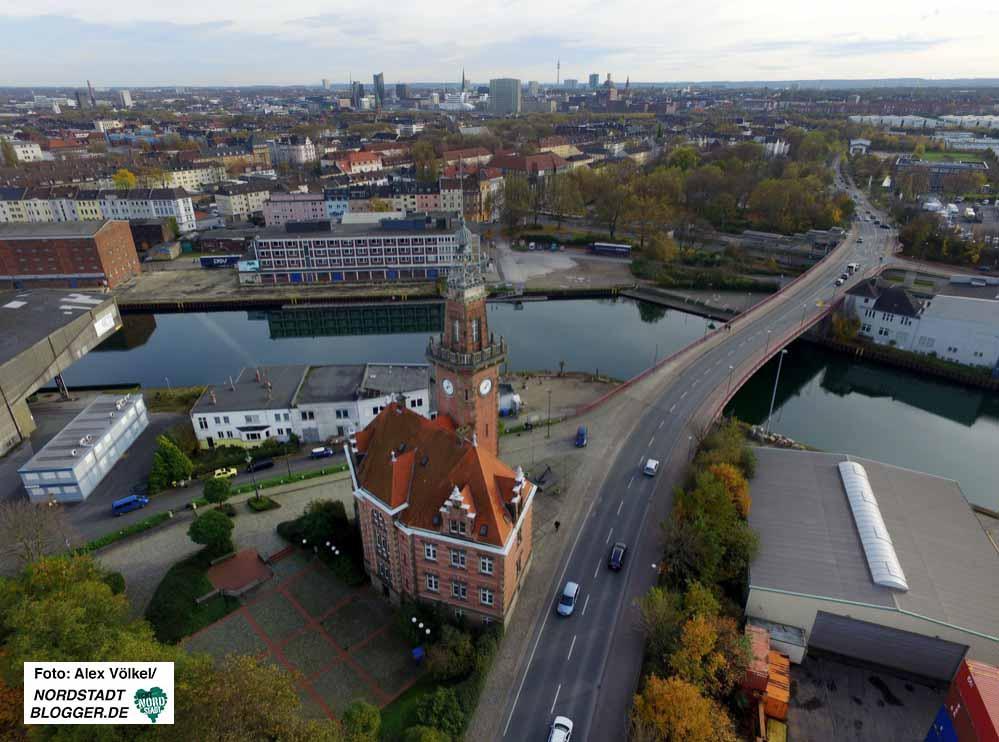 Das Alte Hafenamt ist eine der wichtigsten Landmarken der Nordstadt.
