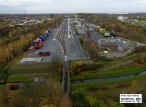 Der neue Hafenbahnhof ist fast fertig. Rund 100.000 Ladeeinheiten sollen hier im ersten Bauabschnitt pro Jahr umgeschlagen werden.