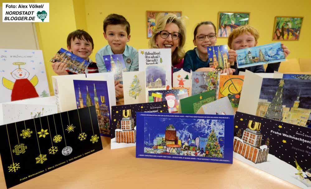 Der Kinderschutzbund verkauft auch in diesem Jahr wieder von Künstlern gestaltete Weihnachtskarten für den guten Zweck.